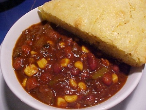 Chili and Cornbread Photo By: serenejournal