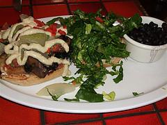 Portobello & Sausage Burger
