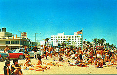 Postcard of Ft. Lauderdale Beach during Spring Break, 1960s Photo by StevenM_61