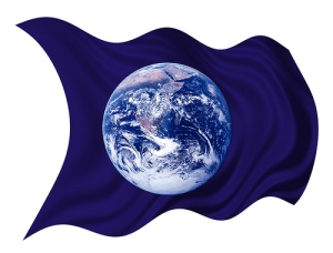 Earth Day Flag, Planet Earth, Waving Wind Blowing Photo By BL1961