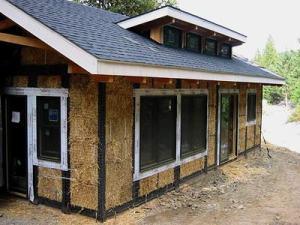 straw bale exterior