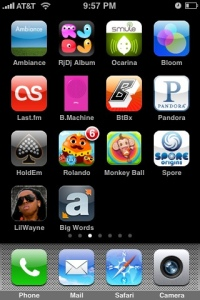 iPhone app organization Photo By Mat Honan